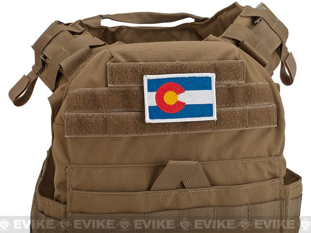 Evike.com Tactical Embroidered Flag Patch (State: Colorado The Centennial State)