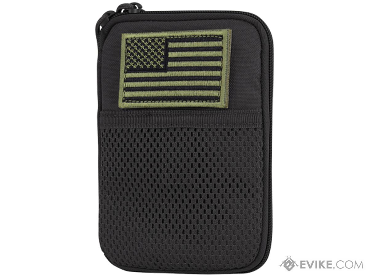 Condor Tactical Pocket Pouch w/ US Flag Patch (Color: Black)