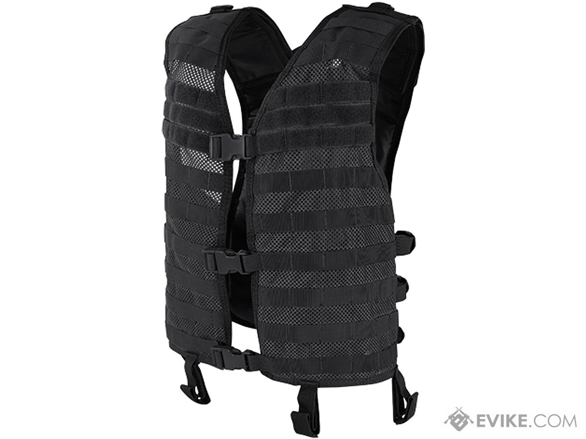 Condor Mesh Tactical Hydration Vest (Color: Black)