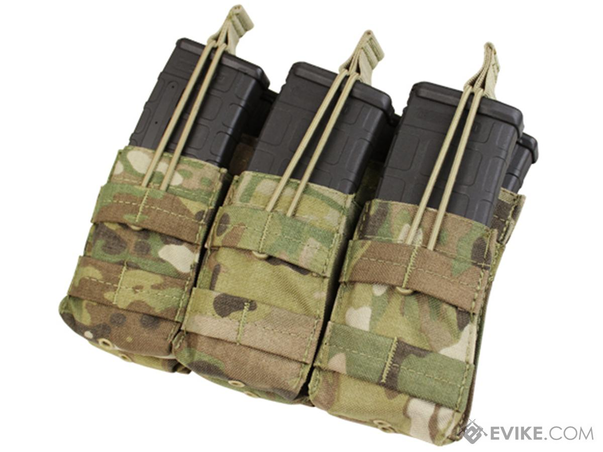 Condor Tactical Open Top Triple Stacker AR15 / M4 / M16 / 5.56 NATO Magazine Pouch (Color: Multicam)