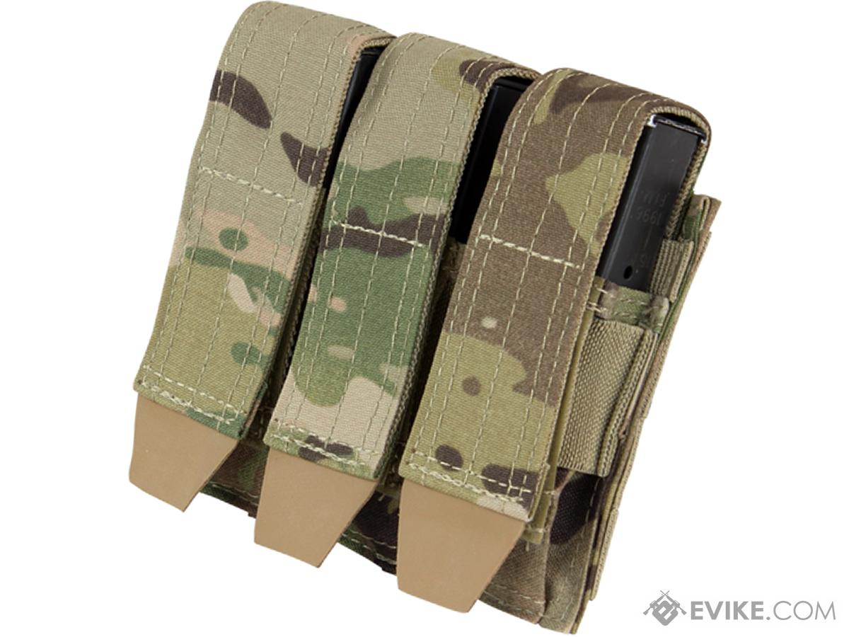 Condor MOLLE Triple Pistol Magazine Pouch (Color: Multicam)