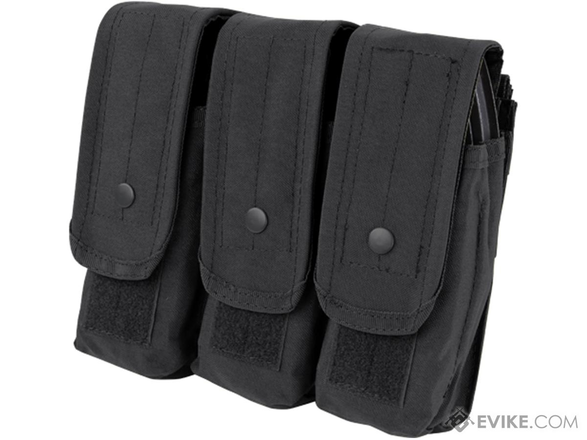 Triple M4 / AK MOLLE Ready Magazine Pouch by Condor (Color: Black)