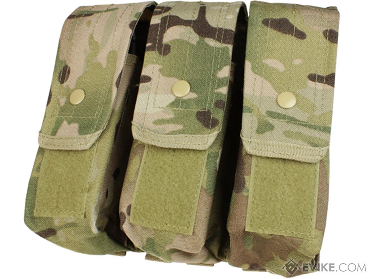 Triple M4 / AK MOLLE Ready Magazine Pouch by Condor (Color: Multicam)