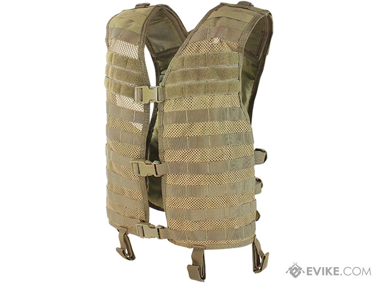Condor Mesh Tactical Hydration Vest (Color: Tan)