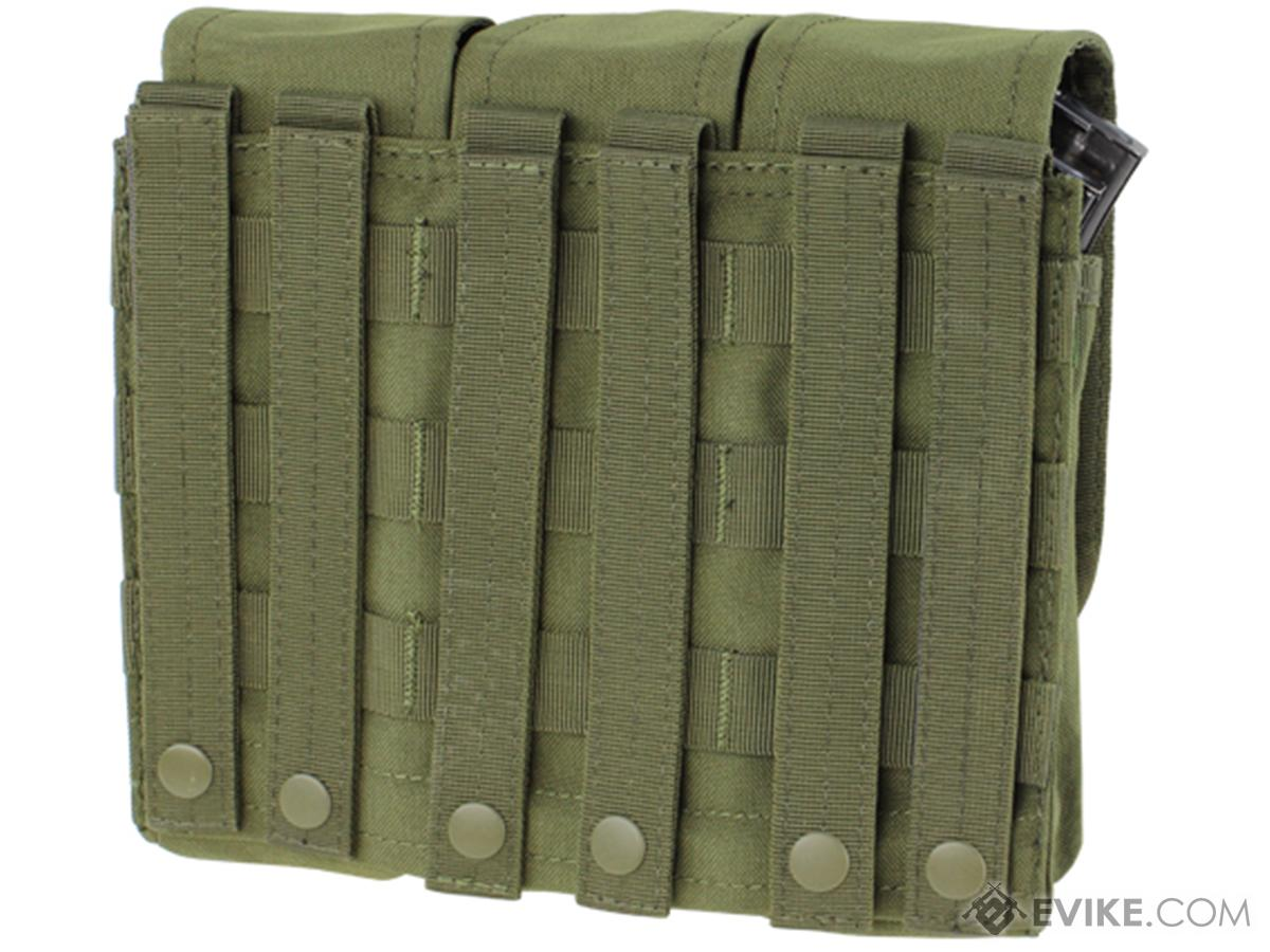 Triple M4 / AK MOLLE Ready Magazine Pouch by Condor (Color: OD Green)