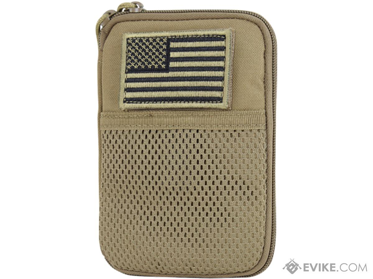 Condor Tactical Pocket Pouch w/ US Flag Patch (Color: Tan)