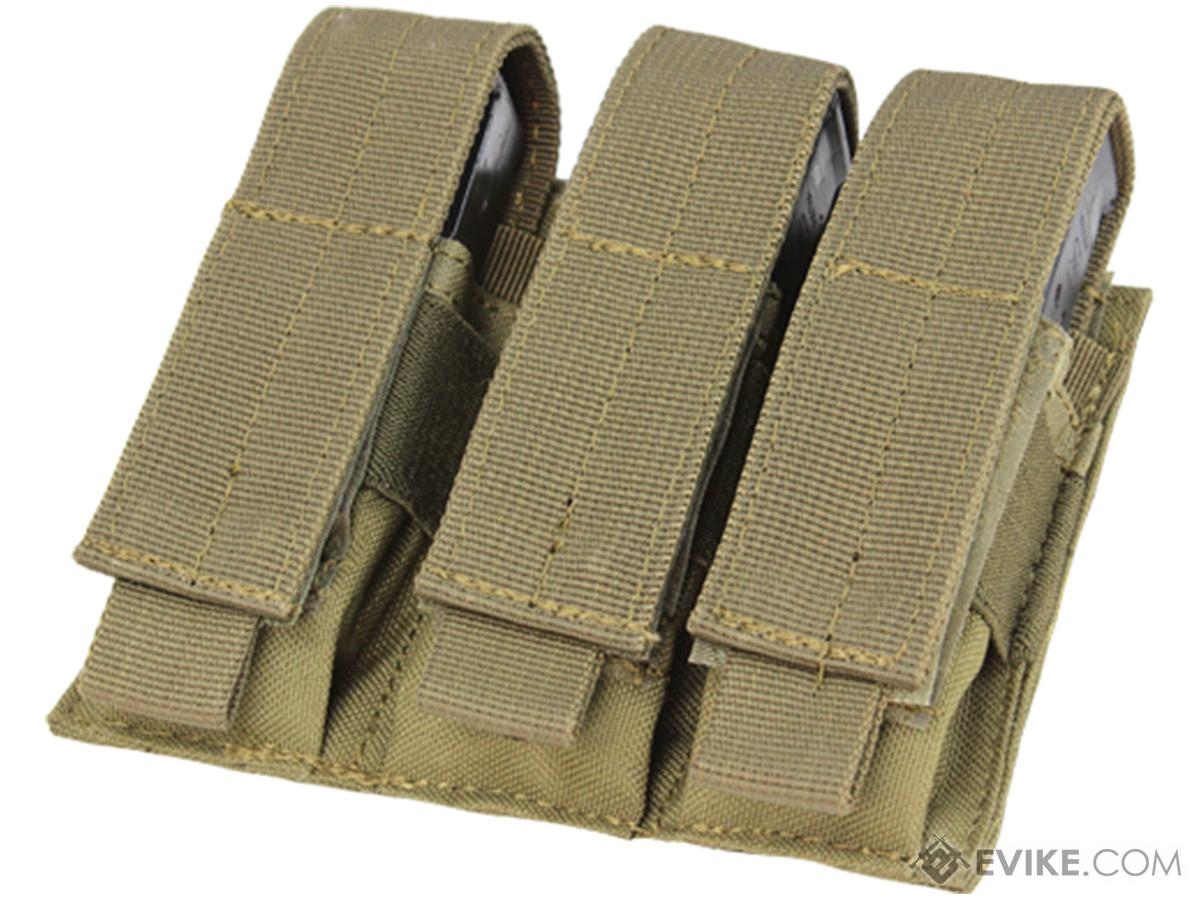 Condor MOLLE Triple Pistol Magazine Pouch (Color: Tan)