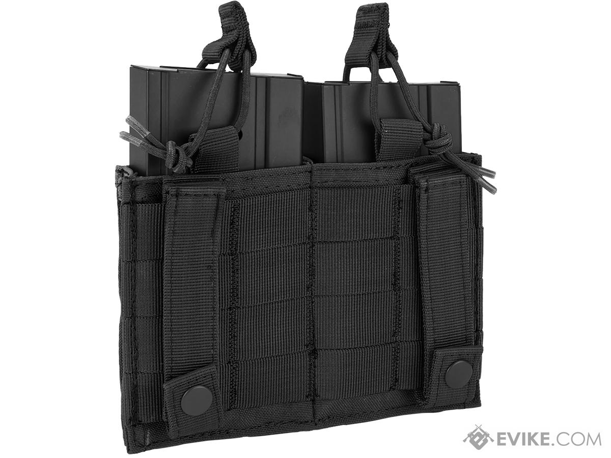Condor MOLLE Double Kangaroo M14 & Pistol Mag Pouch (Color: Black)