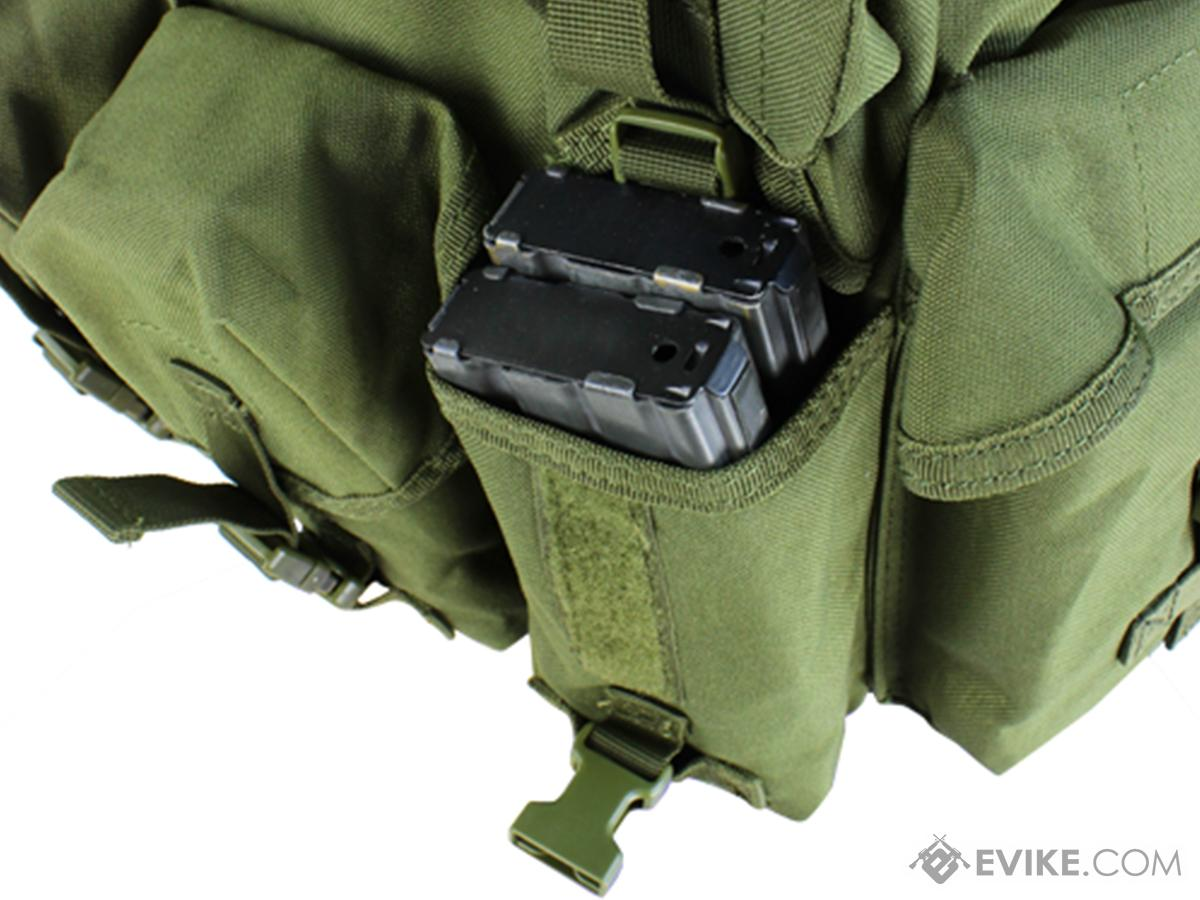 Condor Seven Pocket Tactical Chest Rig (Color: Black)