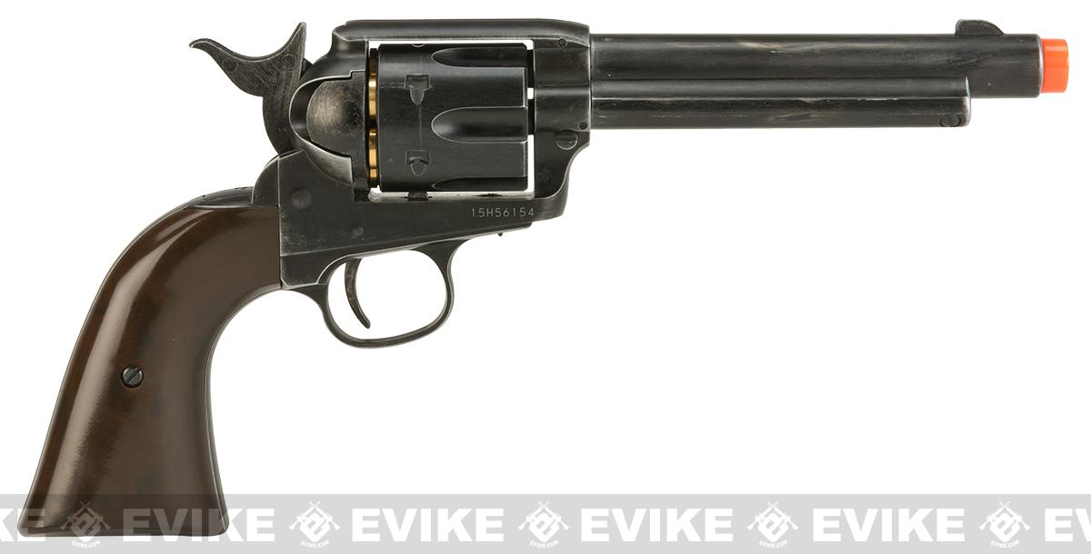 Wingun CO2 Powered 1873 Single Action Airsoft Revolver - Worn Finish