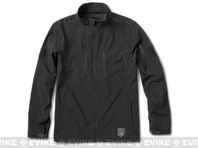 Cannae The Shield Soft Shell Jacket - Black (Size: Large)