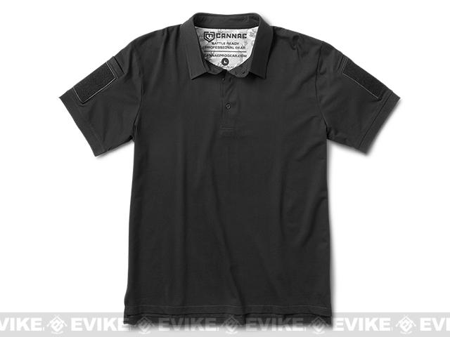 Cannae Professional Operator Cotton Polo Shirt - Black (Size: Medium)
