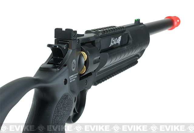 Win Gun M117 CO2 Powered Herd Wolf Revolver Carbine - Black