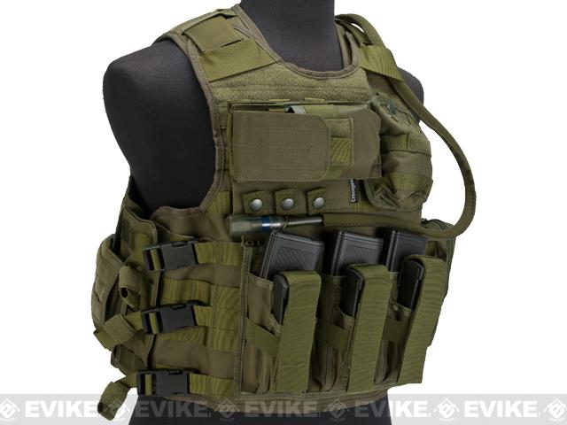 z Crocogear Tactical MEA Tactical Molle Assault Vest - OD Green