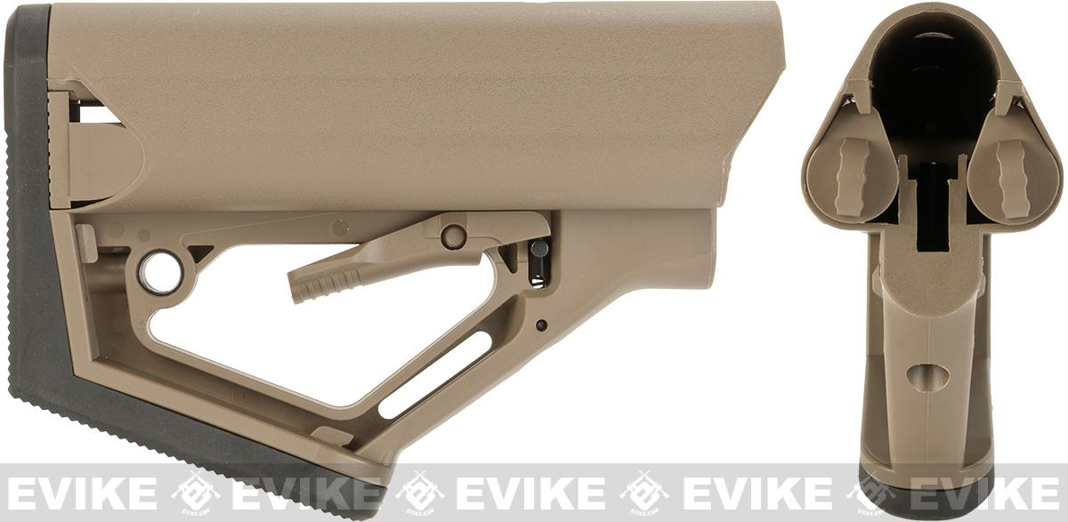 6mmproShop CTS Carbine Battery Stock for M4 M16 Series Rifles (Model: Desert / Stock Only)