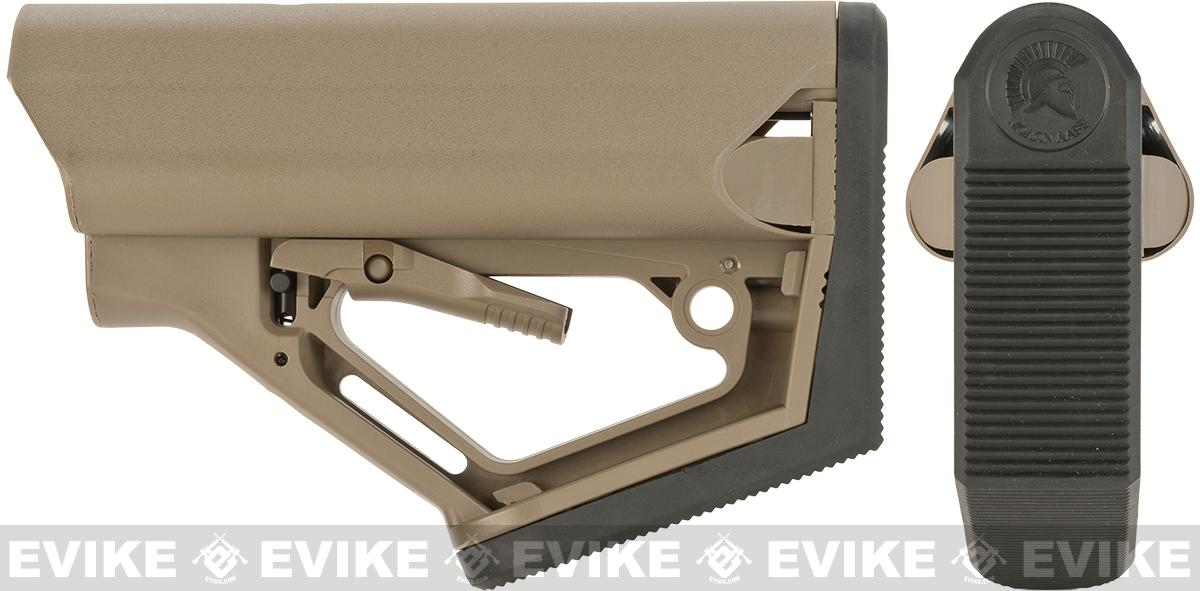 6mmProShop CTS Carbine Tactical Stock Advanced Ergonomic Adjustable Stock for M4/M16 Series Airsoft Rifles (Color: Tan)