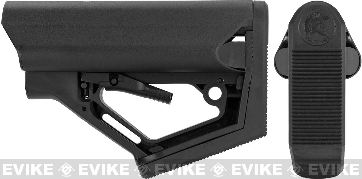 6mmproShop CTS Carbine Battery Stock for M4 M16 Series Rifles (Model: Desert / Stock + GBB Buffer Tube)
