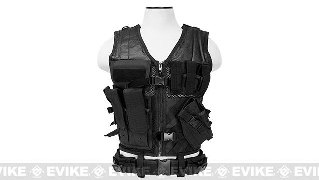 NcStar VISM Tactical Vest - Large - Black