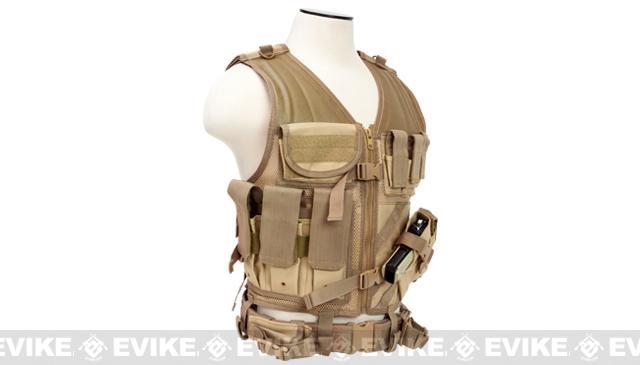 NcStar VISM Tactical Vest - Large - Tan