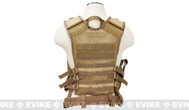 NcStar VISM Tactical Vest - Large - Tan