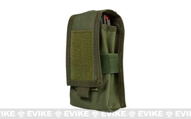 VISM by NcStar Double AR15/AK Series Magazine or Radio Pouch - OD Green