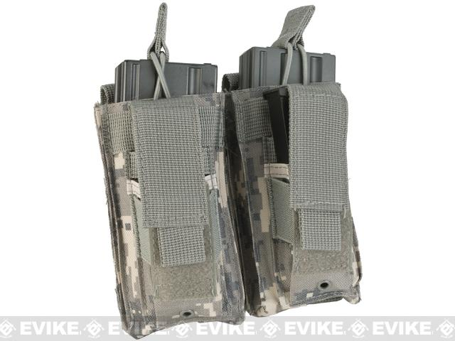 Double Kangaroo MOLLE Ready M16 M4 Magazine and Pistol Mag Pouch - ACU