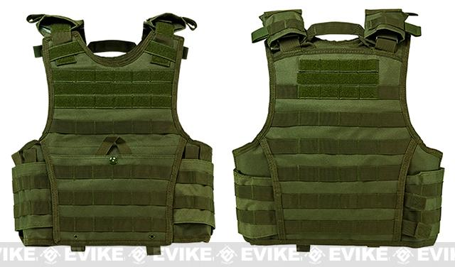 VISM / NcStar Expert Tactical Plate Carrier - OD Green (Size: Small)