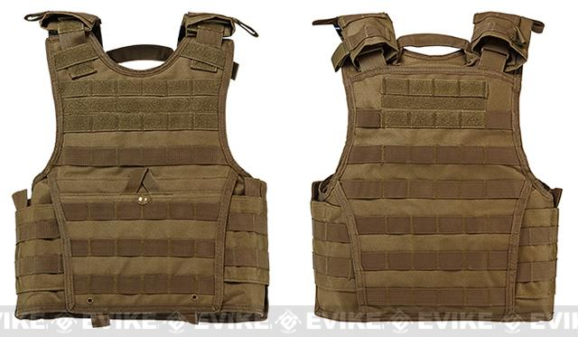VISM / NcStar Expert Tactical Plate Carrier - Tan (Size: Small)