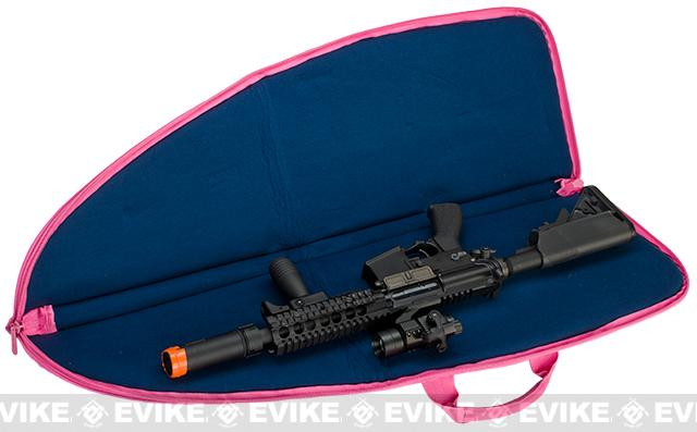 NcStar VISM 40 Tactical Rifle Case - Black w/ Pink