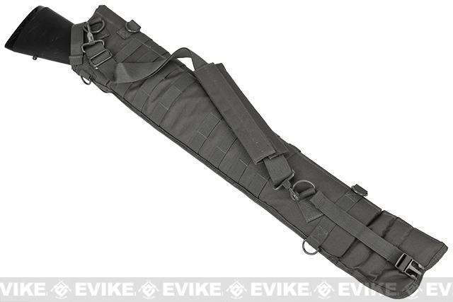 NcSTAR MOLLE Tactical Shotgun Scabbard - Urban Grey