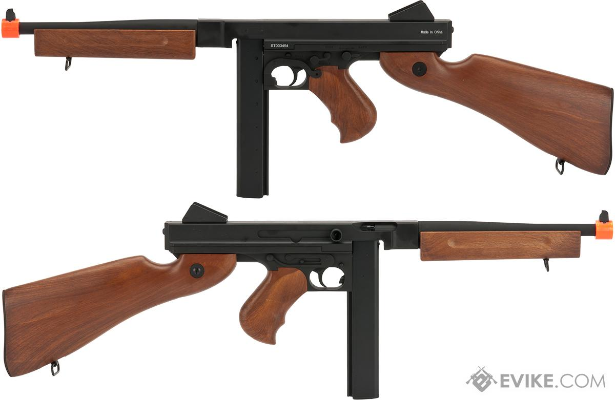 M1A1 Thompson Submachine Full Metal Airsoft AEG Rifle by Matrix / CYMA (Package: Gun Only)
