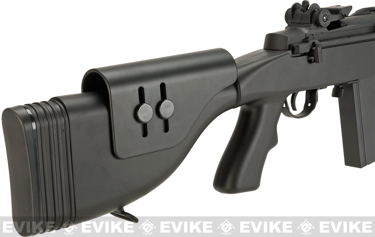 CYMA M14 SOCOM Airsoft AEG with Polymer DMR Style Stock - Black (Package: Gun Only)