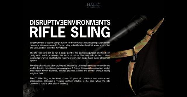 Haley Strategic Partners HSP D3 Rifle Sling (Color: Black)