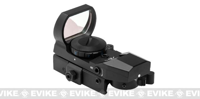 NcSTAR LED 4 Reticle Blue Dot Reflex Sight w/ QR Mount