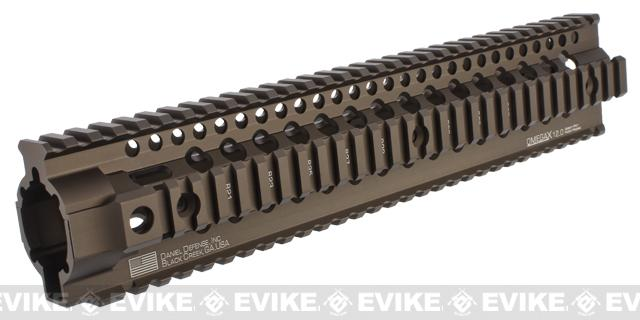 Madbull Daniel Defense Omega X 12 Rail System for M4 / M16 Airsoft AEG Rifles - Dark Earth