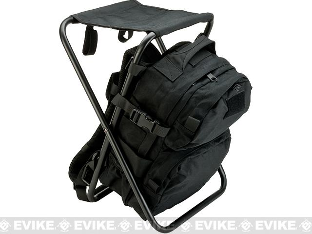 Defcon Gear Tactical Back Pack Chair - Black