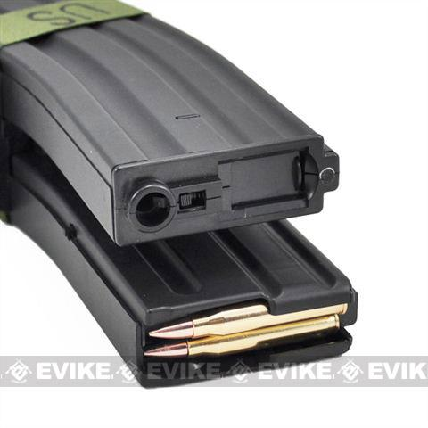Matrix 1300rd Electric Auto Winding Dual Magazine for M4/M16 Series Airsoft AEG (Type: Sound Control / Black)