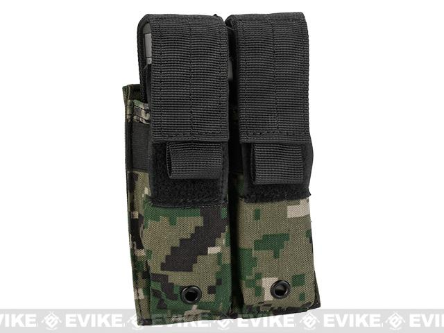 Pro-Arms Tactical MOLLE Double Pistol Magazine Pouch - Digital Woodland