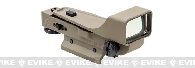 NcStar Gen II Aluminum Red Dot Sight with 20mm Mount - Tan