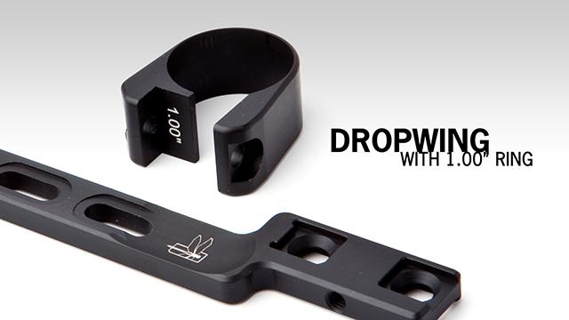 Haley Strategic HSP Dropwing Adaptive Light Mount w/ 1 Ring
