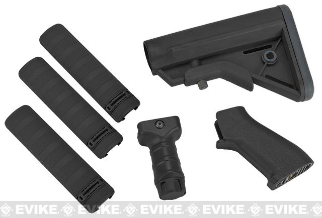 DYTAC SOPMOD Furniture Kit for M4 / M16 Series Airsoft Rifles - Type A / Black