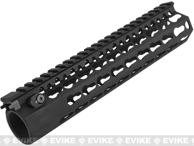 DYTAC Modular 9 KeyMod Rail System for M4 Series Airsoft AEG Rifles - Black