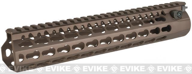 DYTAC Modular 10 KeyMod Rail System for M4 Series Airsoft AEG Rifles - Burnt Bronze