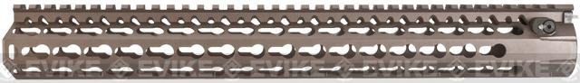 DYTAC Modular 15 KeyMod Rail System for M4 Series Airsoft AEG Rifles - Burnt Bronze