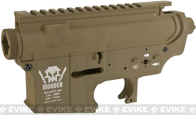DYTAC Invaders Metal Receiver for M4 / M16 Series Airsoft AEG Rifles  - Dark Earth