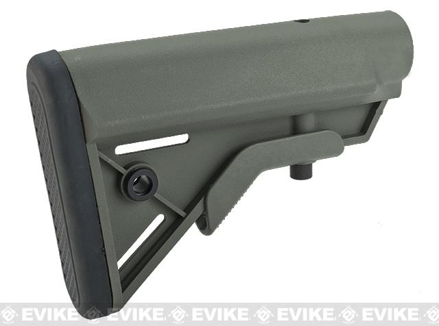 DYTAC SOPMOD Retractable Crane Stock for M4 Series Airsoft Rifles - Foliage Green