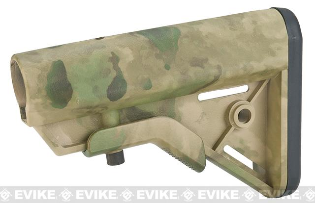 DYTAC SOPMOD Retractable Crane Stock for M4 Series Airsoft Rifles - Arid Foliage Camo