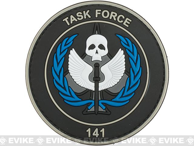Task Force 141 PVC Morale Patch - Black