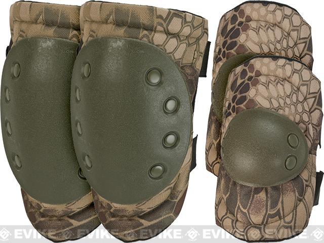 Avengers Special Operation Tactical QD Knee Pad / Elbow Pad Set (Color: Woodland Serpent)
