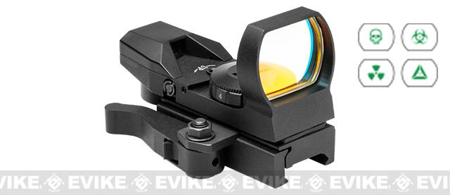 NcSTAR Zombie Green LED 4 Reticle Reflex Sight w/ QR Mount